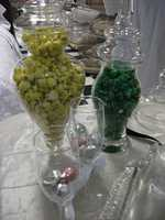 Beautiful containers can be used to show off your candies and popcorn bar. (The Popcorn Fanatic)