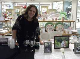 Elkin Creek Vineyard was available to explain all their wedding ceremony and reception areas at theBelk Engagement Party.
