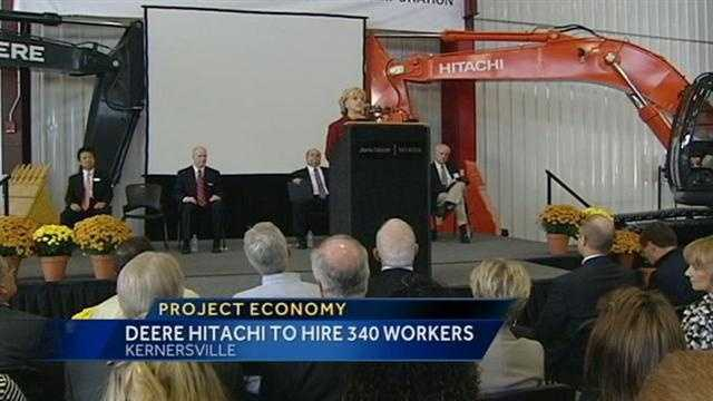 Gov. Bev Perdue announces jobs at Deere-Hitachi