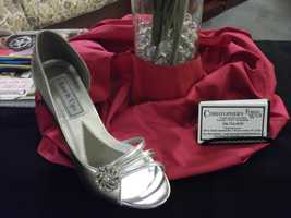 Beautiful women's shoes were also shown to brides-to-be to go with the wedding parties dresses. (Christopher's Formalwear)