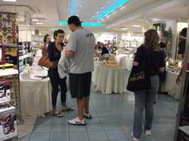 The cake makers, caterers and other vendors usually bring taste testing samples. Everyone seems to be enjoying them at theBelk Engagement Party and getting ideals for their wedding plans.