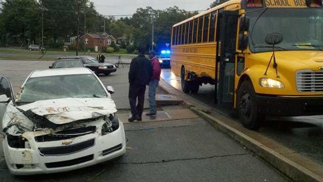 Greensboro crash involving school bus