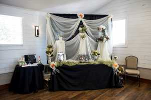 Photographers had booths setup to talk to the couples about all their wedding photos.
