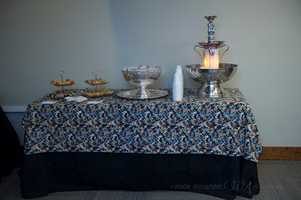 Wedding shows usually have several caterers with food for tasting samples. TheWinmock Bridal Show was filled with little areas for caterers to show off their cooking abilities.