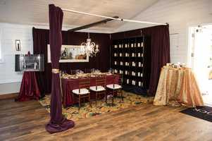 Elegant wedding reception design at theWinMock Bridal Show.