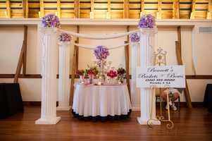 Bennett's Baskets N Bow's was also present with a beautiful booth setup with the different flowers and arrangements that can be used in your wedding ceremony.