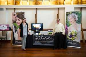 McCardell Photography was present at theWinMock Bridal Show to show couples what they had to offer for wedding photo packages.