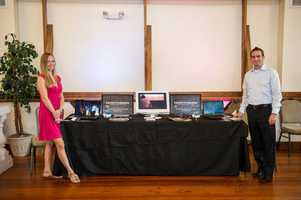 Hayzen's Photography was available at theWinMock Bridal Show to show couples their videos and discuss what they have available for wedding planning.