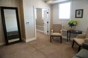 The WinMock at Kinderton has a dressing room for the future bride as well as the maid of honor and bridesmaids.