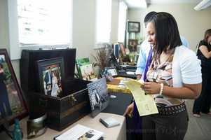 Couples got to check out what style of photographers work they may want to use because of all the examples photographers brought to thePerfect Wedding Guide Triad/Triangle - WinMock Bridal Show.