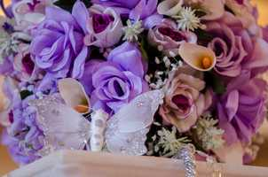 Many florists are available at wedding shows to show different colors and ideas for guests they would have never thought of using. (WinMock Bridal Show)