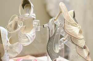"""Great shoes with bling for """"The Great Gatsby"""" or Red Carpet Wedding Theme."""