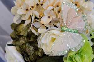 Many florists vendors had their examples out to show what couples could use in their wedding planning. (WinMock Bridal Show)