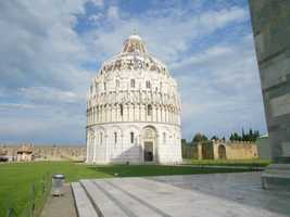 The Baptistry of St. John is a religious building in Pisa, Italy and is part of the four buildings on the grounds of the Pisa's Catherdral Square. Great history for couples to enjoy at honeymoon learning about the different buildings and meanings to the Italian people.