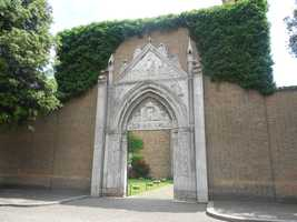 The 13th Century Gothic portal for the Chiesa di San Giovanni Evangelista. The entrance to Ravenna, Italy church with great history and maybe your honeymoon memories.