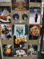 Several flower arrangements and cake ideas for the Fall, Halloween and/or Thanksgiving Themed Wedding. (Beverly's of Midway Flowers & Gifts)