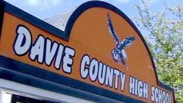 Davie County High School sign