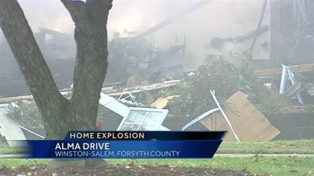 Home explodes in Winston-Salem