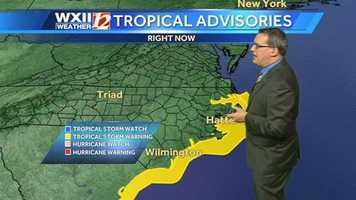 Tropical advisories along the coast