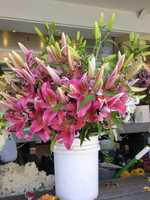 Pike Place Market in Seattle, Washington had several beautiful arrangements to choose from while shopping.