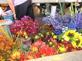 So many flowers to choose from at one of the Pike Place Markets in Seattle, Washington.