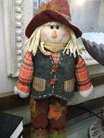 This cute scarecrow would make a nice decoration at a Fall or Thanksgiving themed wedding.