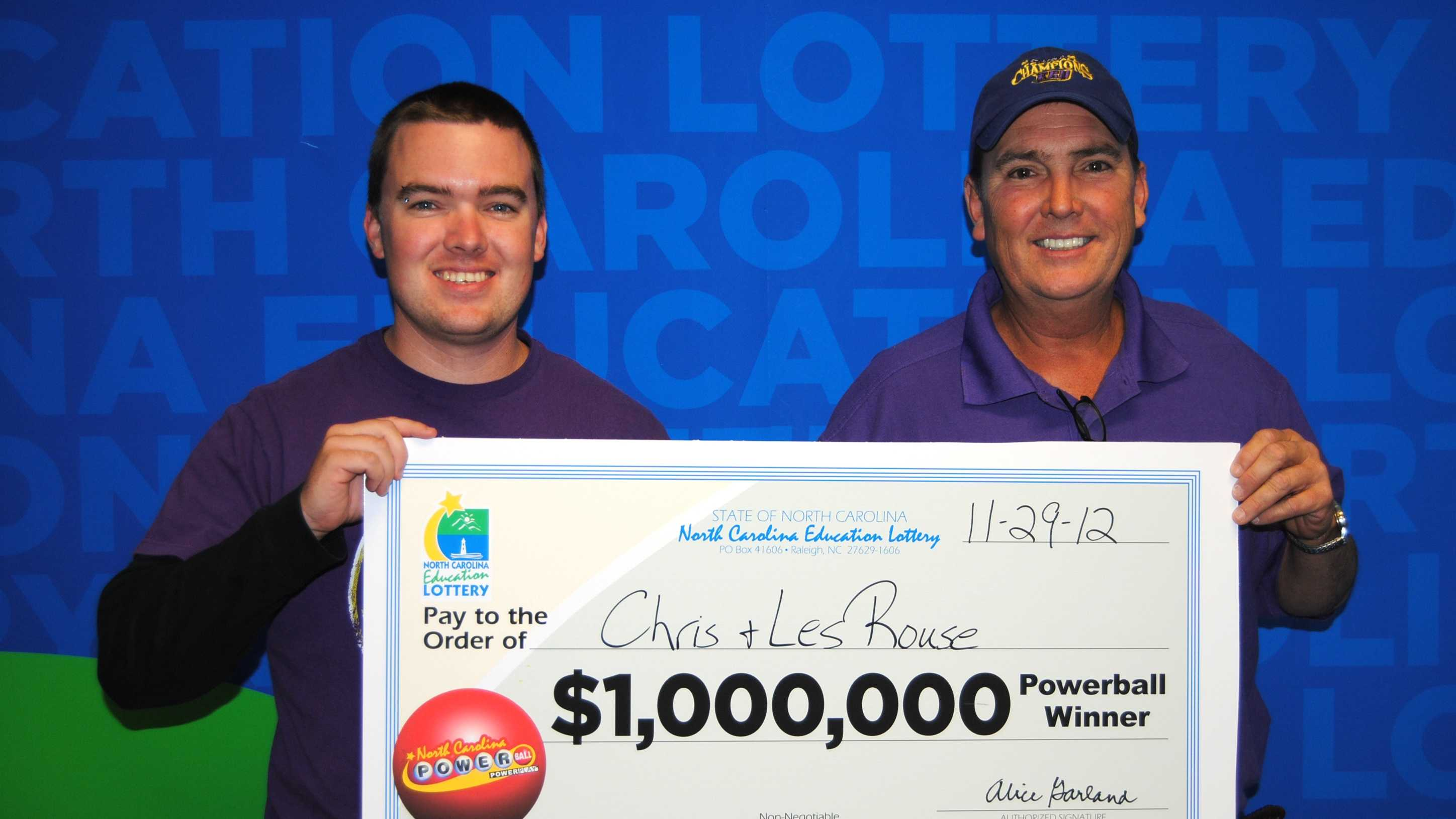 Christopher Rouse, left, and Leslie Rouse, right (NC Education Lottery)