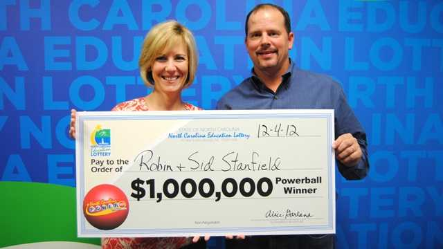 Robin Stanfield, left, and Sid Stanfield, right (NC Education Lottery)