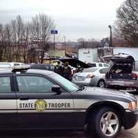 Multiple agencies are at the scene of a standoff in Jonesville. (Craig Marimpietri/WXII)