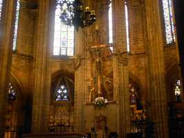 """Amazing views like """"The Jesus and angels statue"""" is incredible inside TheCathedral of Santa Eulalia. The wedding planner would know if you can marry inside the cathedral."""