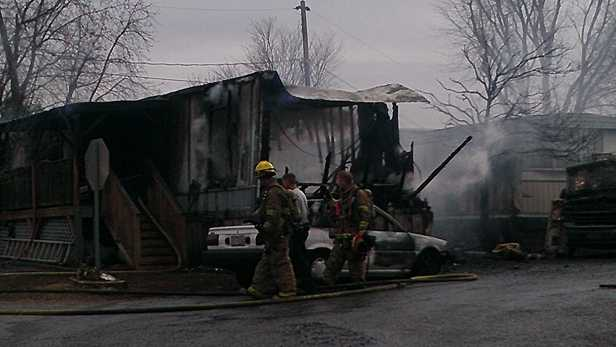 Mobile home fire in Winston-Salem