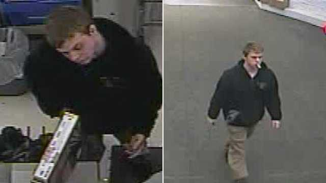 Surveillance images of suspect in Walmart robbery (Winston-Salem police)