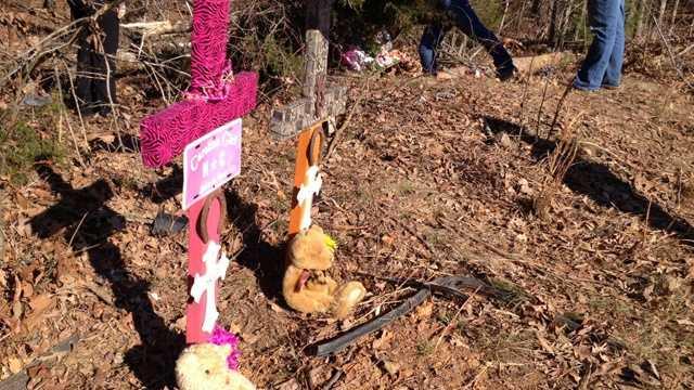 Memorial where teens killed in Orange County crash (Courtesy WNCN)