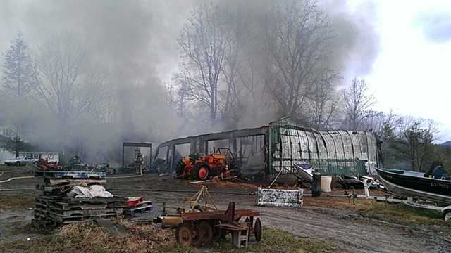 Lowgap building fire