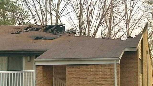 Apartment fire in Greensboro