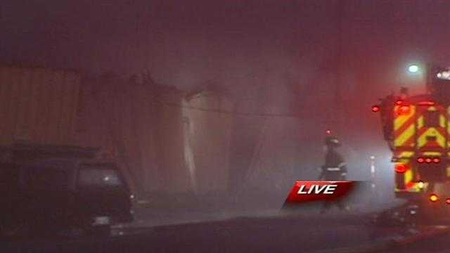 Warehouse fire in Greensboro