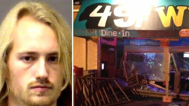 Jacob Spivey crashes into Wilmington bar