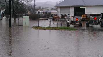 WXII's William Bottomley uploads these photos from Galax, Va., which has seen roads closed by flooding.