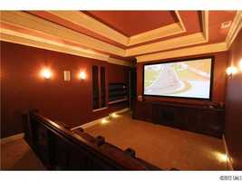 Home Theater with tiered seating