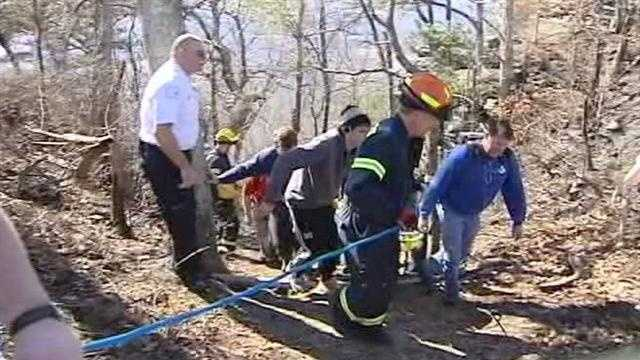 WXII's Stephanie Berzinski has exclusive video where a young lady survives a forty foot fall at Pilot Mountain.