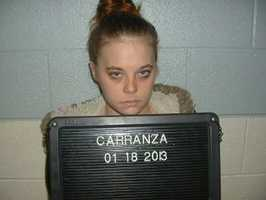 Monica Danielle Carranza, charged with 1 count of possession with intent to manufacture, sell and deliver.