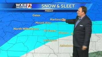 Let's break down the snow and sleet outlook for Friday. | Want to watch the video forecast? Click here.