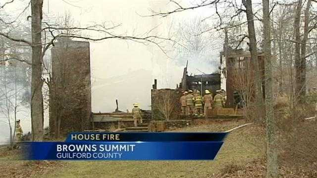 House fire in Browns Summit