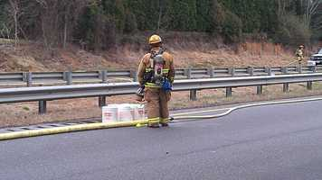 The crash happened around 12:10 p.m. at mile marker 243 near Reynolds Road.