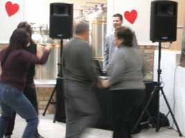 Couples could take their wedding groups to certain events like this Valentine's celebration at Westbend Vineyards and Brewhouse and even enjoy dancing.
