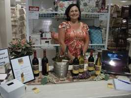 MenaRick Vineyard and Winery hostess serves taste tests at wedding shows. Make sure before you head out on your own the cost is lower than with a travel group to save some money.