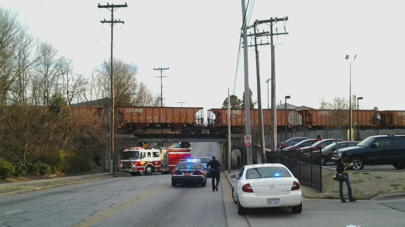 Train hits pedestrian in Greensboro