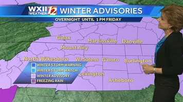 Winter advisories for the next blast of weather. | Sign up for alerts