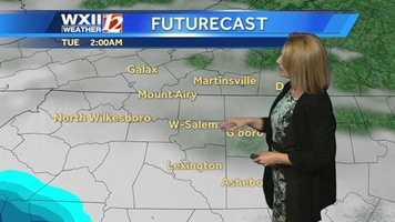 Let's check the futurecast images starting early Tuesday.