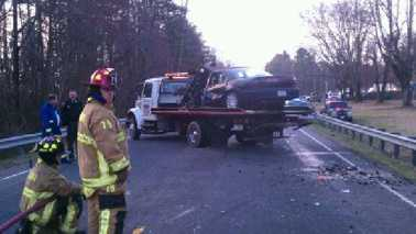 Wreck on U.S. 21 in Surry County